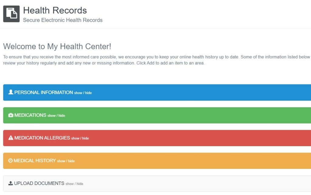 Health records